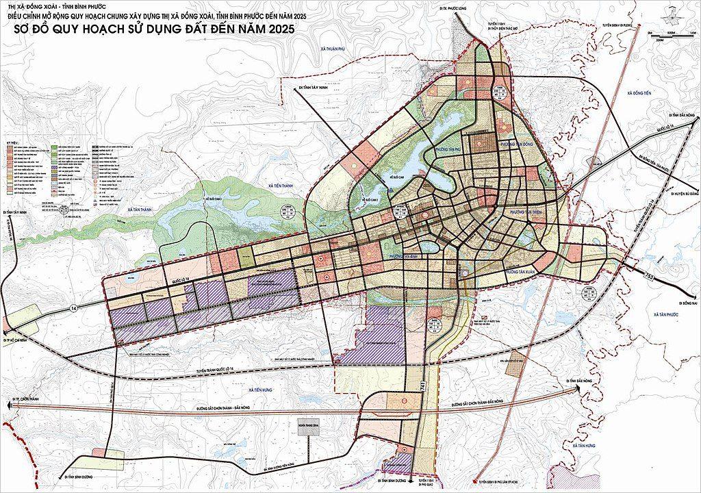 Bản đồ thị xã Đồng Xoài tỉnh Bình Phước 2