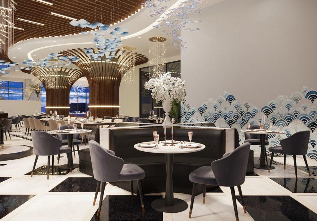 Nhà hàng sanh chảnh tại dự án Peninsula