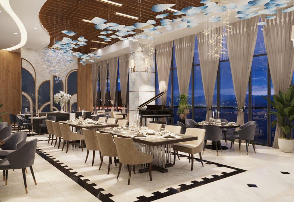 Nhà hàng sang trọng tầng 1 của dự án Peninsula
