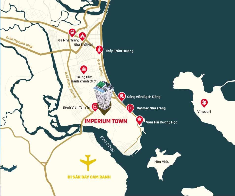 vị trí dự án imperium town