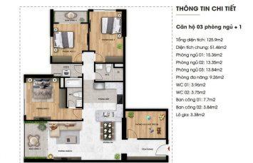 Mặt bằng căn hộ Imperium Town 3 Phòng Ngủ + 1 7