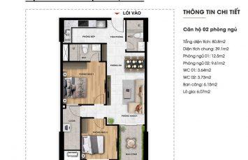 Mặt bằng căn hộ Imperium Town 2 Phòng Ngủ 19