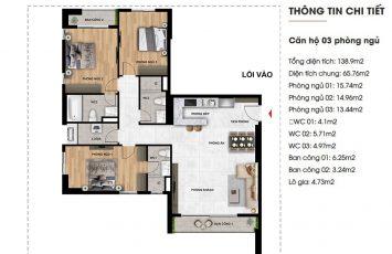 Mặt bằng căn hộ Imperium Town 3 Phòng Ngủ 34