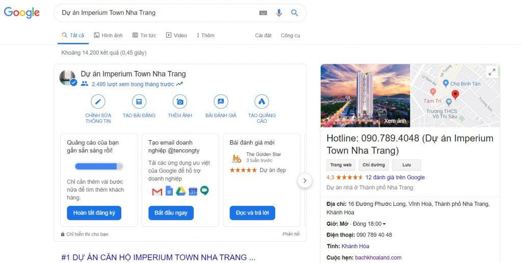 tìm kiếm google dự án imperium