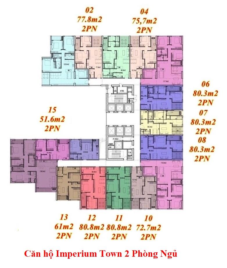 căn hộ imperium town 2 phòng ngủ
