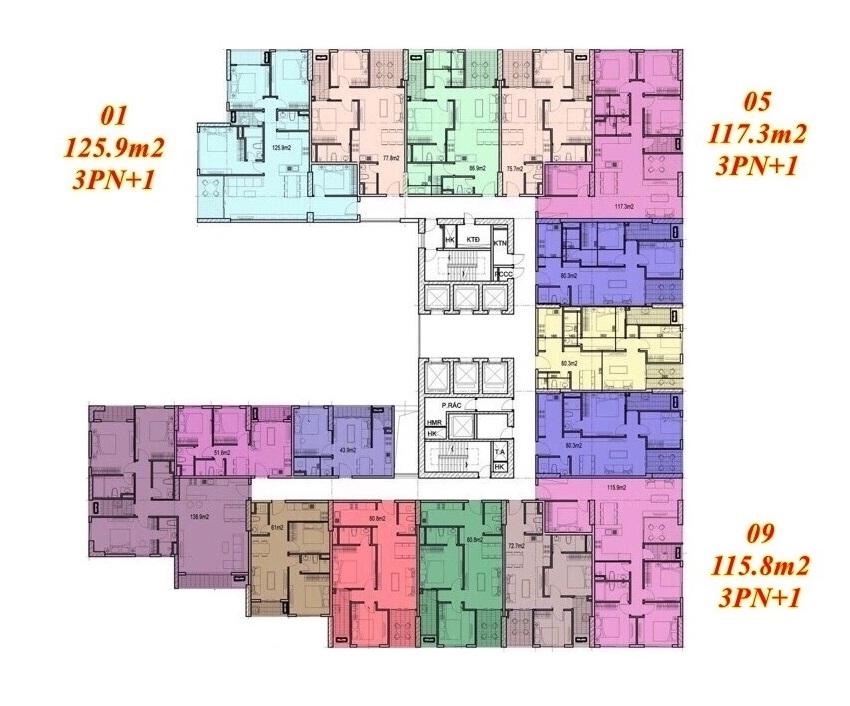 Mặt bằng căn hộ Imperium Town 3 Phòng Ngủ + 1