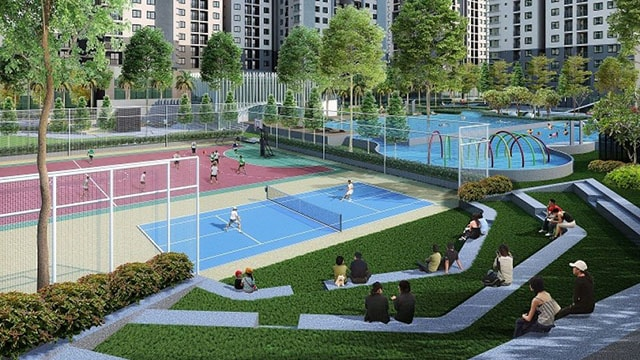 Multipurpose sports ground in Saigon South Residence