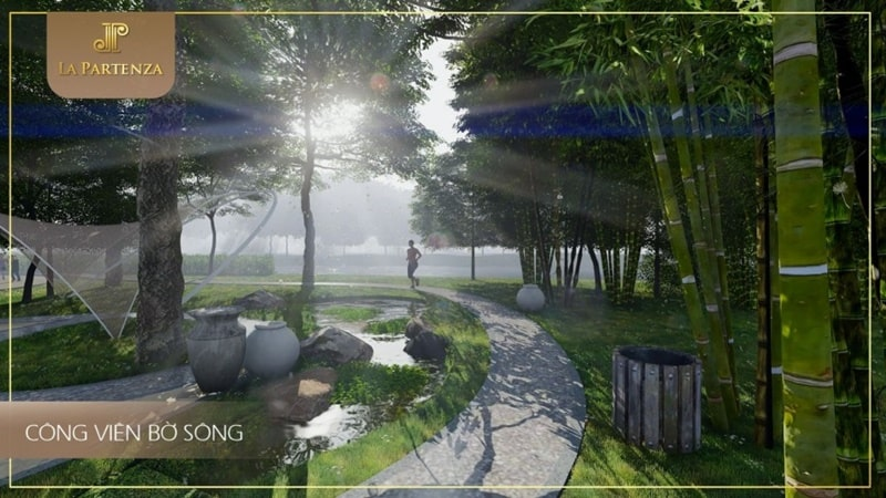 Công viên bờ sông với bầu không khí trong lành tại La Partenza