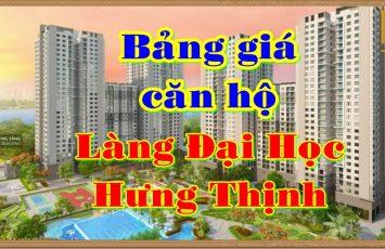 Bảng giá căn hộ Đại Phú Hưng Thịnh Bình Dương 30