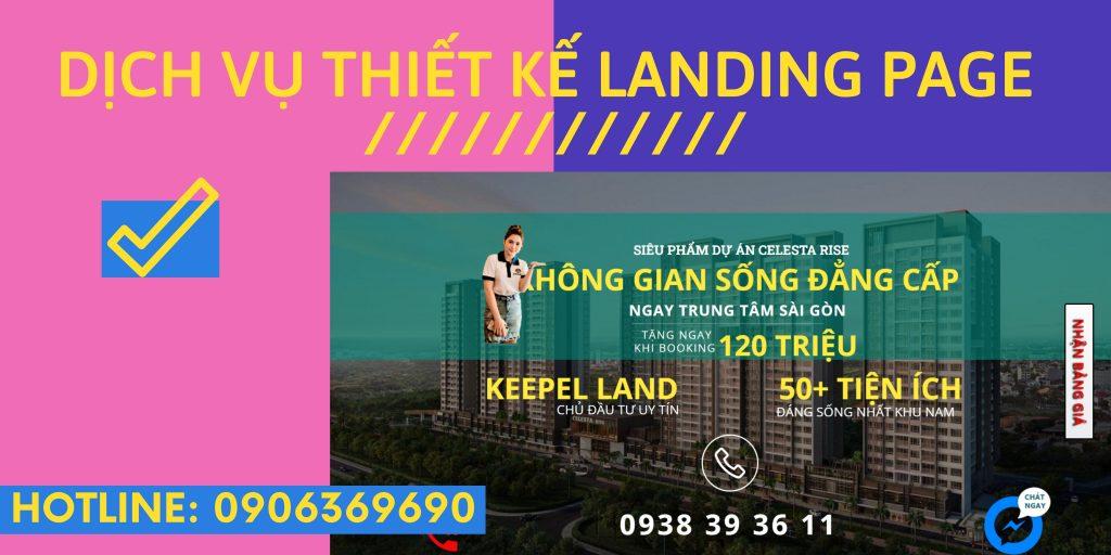 Dịch vụ thiết kế Landing Page theo yêu cầu giá 1 triệu 3